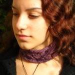Victorian Lace Hand Knitted Choker ..