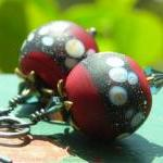 Cherry Earrings, handmade artist la..