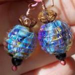 Opal Berries, earrings lampwork bea..
